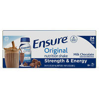 Ensure Original Nutrition Milk Chocolate Meal Replacement Shakes(8 fl.oz.,24 ct)
