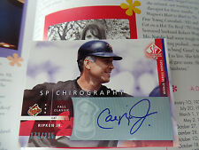 Cal Ripken autographed auto UPPER signed DECK Chirography autograph UD SP SPX