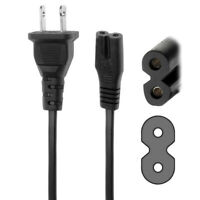 US Plug 2-Prong Figure 8 AC Power Cord Adapter Cable Sony PS2 PS3 Laptop
