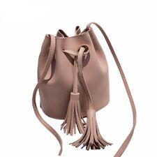 Fashion Ladies Tassel Small Shoulder Bags Retro Crossbody Bag Drawstring Handbag