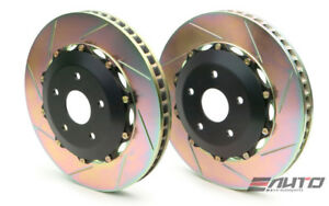 BREMBO Front 2pc Oversize Rotor Disc Upgrade 380x34 Slot Gallardo 03-14 R8 08+
