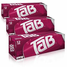 Lot of (3) TAB Cola 12-Pack Tab Soda Soft Drinks 12 fl oz -Sealed Box ~ LOT OF 3