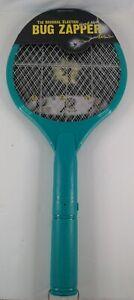 Zap Master The Original Electric Hand Held Racket Bug Zapper (Green), 🆕