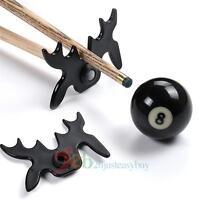Billiards Cue Rack Bridge Head Cross Antlers Rod Stick Frame Pole Holder Black
