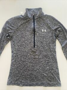 Under Armour Training Tech Half Zip Long Sleeve Top Grey Size Xs