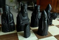 Interesting heavy complete  Isle of lewis style Chess Set chessmen game pieces