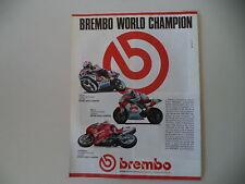 advertising Pubblicità 1990 BREMBO e JOHN KOCINSKY/RAYMOND ROCHE/DUCATI 851