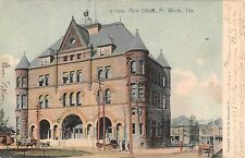 1905 Post Office Fort Worth TX post card