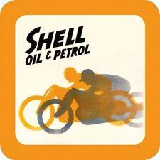Original Metal Sign Co Melamine Coaster Shell Oil & Petrol Classic Motorcycles