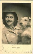 Hertha Feiler Ross A 3077/2 mit Hund signiert,  Autogramm