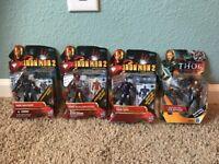 Hasbro IRON MAN 2 Thor Four Figures New on card MARK VI Volstagg War Machine