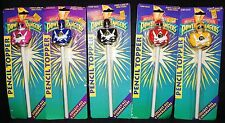 Vintage Mighty Morphin Power Rangers Set of 5  Pencil Topper 1990s New Sealed