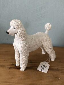 Schöne Vintage North Light Pudel / Sammelobjekt Weiß Hund Figur
