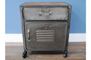 Industrial  Bedside / Storage Cabinet Small Single Drawer & Cupboard