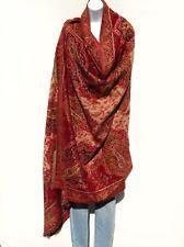 Yak/Sheep Wool Blend|Shawl/Throw|Handcra fted| Kashmiri|Colors: Red/Khaki/Sand