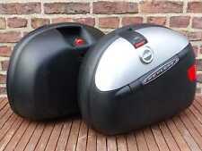 Koffersatz 2 Koffer GIVI E41 KEYLESS Monokey Seitenkoffer Motorradkoffer silber