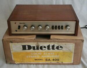 Vintage Boxed Duette SA-400 Solid State Amplifier
