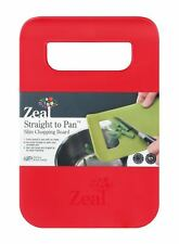 Zeal Straight to pan slim chopping boards Red Small 33.5 x 22.5 x 2 cm