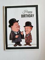 LAUREL AND HARDY HAPPY BIRTHDAY GREETING CARD