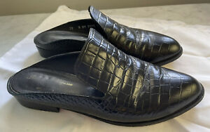 Robert Clergerie Black Alice Loafers/Slides Size 39