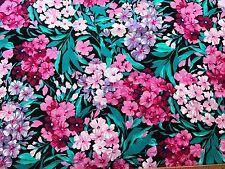 Cotton Quilt Fabric Flowers Pink Phlox Cranston Print  BTHY