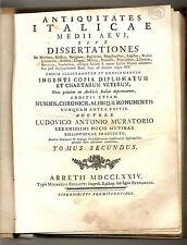 1774. AREZZO – ANTIQUITATES DEL MURATORI