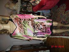 Ladies Kaftan, Summer Dress, Beach,Bikini Coverall, Peachy Leopard, Chiffon, 14,