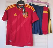 Adidas Soccer Shirt Shorts Socks Spain Red Blue and Gold  NWT Youth Large L