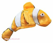 New Cute Gold Nemo Fish Costume Party Warm Hat Mask Cap