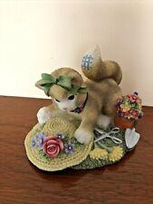 """2000 Enesco Calico Kittens """"The Earth Blossoms For You"""" Priscilla Hillman Figuri"""