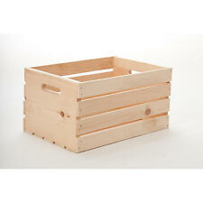 Crate Wooden Box Pine Wood Storage Box Store Natural Home Office Extra Durable