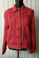 Women's jeans jacket red color size M by Ralph Lauren! New!