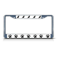 CAT KITTY PAW PAWS Chrome Heavy Duty Metal License Plate Frame