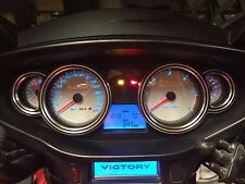 Victory Cross Country Billet Speedometer Bezels (Contrast Grooved)