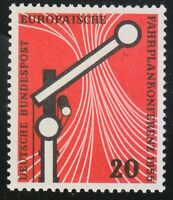 Germany 1955 MNH Mi 219 Sc 734 Railroad Signal.European Timetable conference **