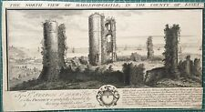 1738 Antique Print; Hadleigh Castle, Essex after Buck Brothers