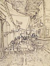 "vAN GOGH VINCENT - CAFE TERRACE AT NIGHT,1888 - ART PRINT POSTER 14"" X 11""(1715)"