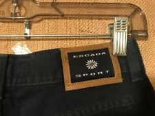 """Escada Sport  women's jeans Euro 40 Italy made 27""""W x 30.5""""L rise 11"""" ankle open"""