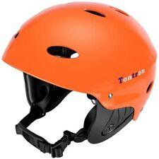 Tontron Water Sport Helmet Orange New Size Medium Carry Bag Adult Kayaking Canoe