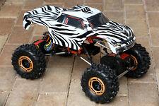 Custom Body Zebra Style for Redcat Racing Rockslide / Everest 1/10