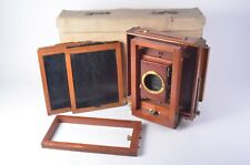 GORGEOUS CENTURY VIEW CAMERA 8x10 MAHOGANY WOOD CAMERA, +FILM HOLDERS X2
