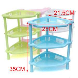 3 Tier Plastic Corner Organizer Caddy Shelf Room Bathroom Storage Rack Holder ~