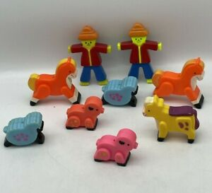 Vintage Fisher Price Baby Mobile Crib Replacement Toy Farm Animals 1970s