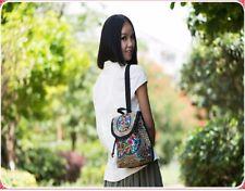 1X Backpack Flower Embroidered Folk-Custom Hippie Bag