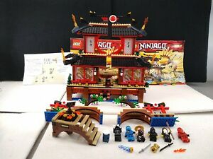 Lego Ninjago Fire Temple (2507) - Not Complete - missing dragon - Used