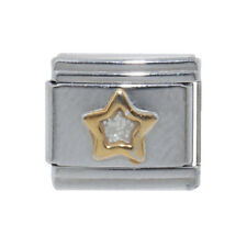 Sparkly Star gold outline Italian Charm - fits 9mm Classic Italian charms