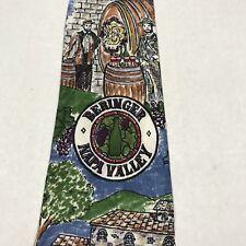 Beringer Napa Valley Winery  Men's Neck Tie  Hand Made Heather Nichols