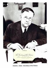 Harold L Ickes Autograph Secretary Interior Roosevelt Pennsylvania UC Chicago