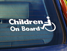 Static Cling Window Car Sign/Decal Disabled Children On Board
