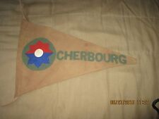 WWII US ARMY 9 TH INFANTRY DIVISION CHERBOURG BAR-BARRACKS  WALL  FLAG